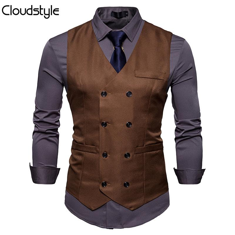 Slim Fit Durable Casual Vest Brown