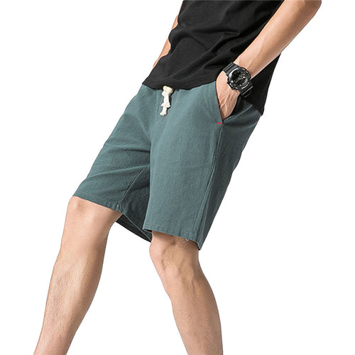 Loose Elastic Waist Shorts Green