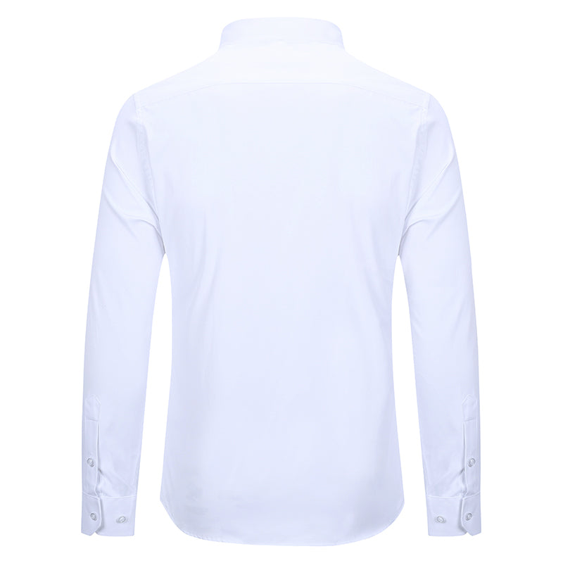 Slim Fit Turn-Down Collar White Shirt