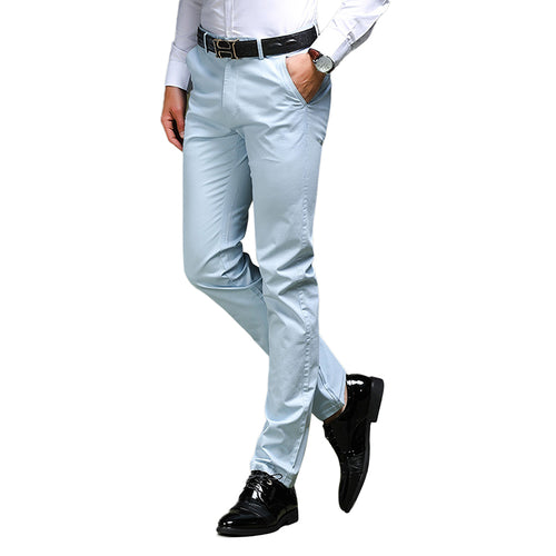 Modern Fit Elastic Pants LightBlue
