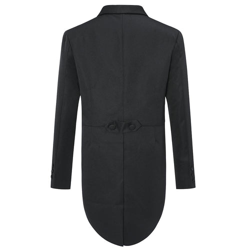 Black Swallowtailed Dinner Suit 3-Piece Slim Fit Suit