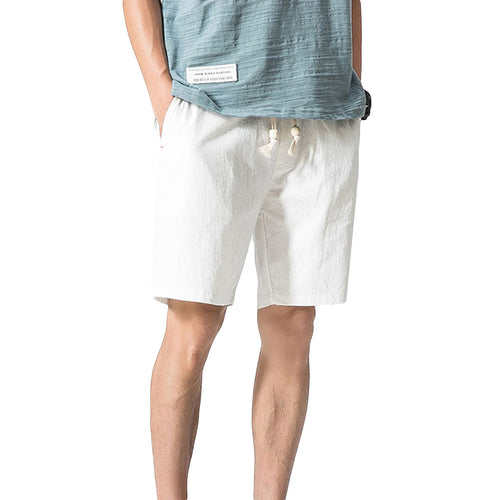 Loose Elastic Waist Shorts White