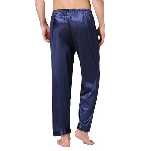 Loose Fit Casual Pajama Pants Solid Color Lounge Pants 3 Colors