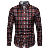Slim Fit Fashion Plaid Shirt 5 Colors