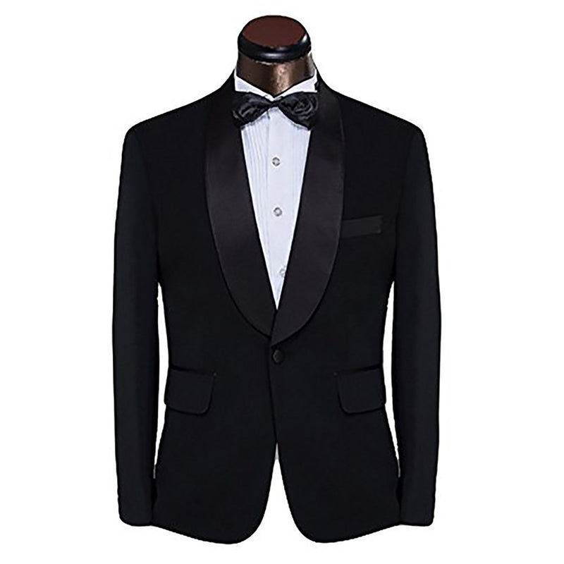 2-Piece Slim Fit Dinner Suit Black