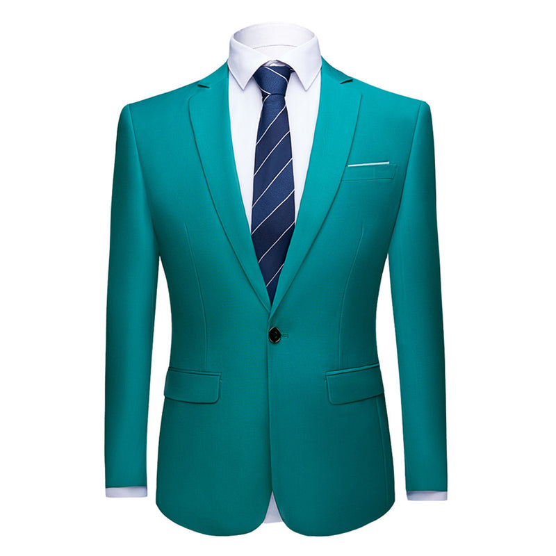 Teal Stylish Blazer One Button Casual Blazer