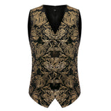 Slim Fit Paisley Vest Gold