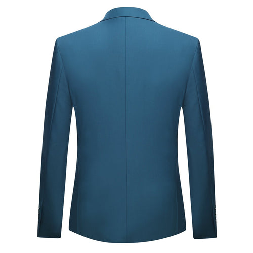 3-Piece Slim Fit Classic Casual RoyalBlue Suit