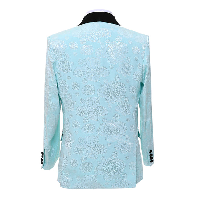 3-Piece Paisley Dress Suit Blue