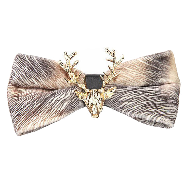 Reindeer Christmas Holiday Bow Tie 9 Colors - Cloudstyle