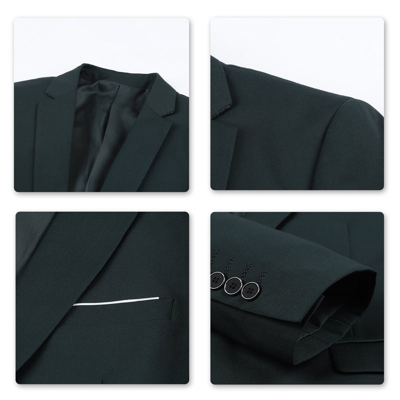 Slim Fit Stylish Blazer DarkGreen