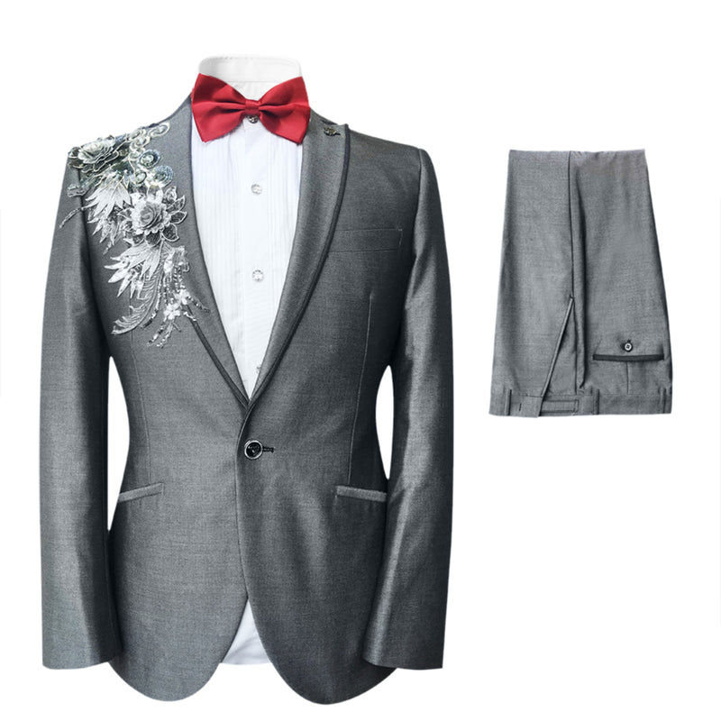 2-Piece Embroidered Sequin Suit 4 Styles - Cloudstyle