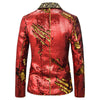 Reversible Sequin Jacket Red Casual Blazer