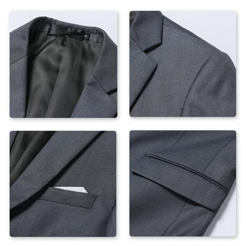 Nardo Grey 3-Piece Suit Slim Fit Two Button Suit