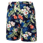 Relaxed Fit Floral Casual Shorts Navy
