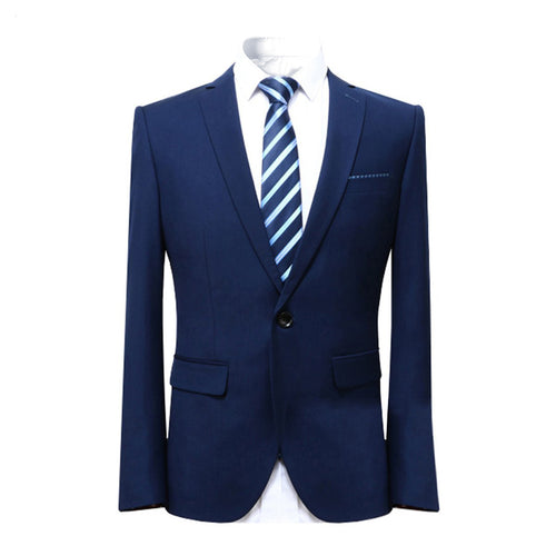 Slim Fit Business Suit 2-Piece Blue Suit