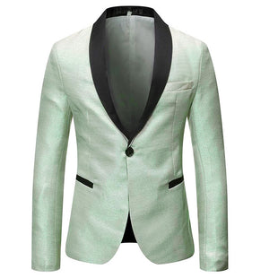 Slim Fit Plush Casual Khaki Blazer