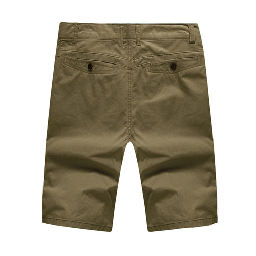 Deep Khaki Summer Shorts Loose Fit Short Pants
