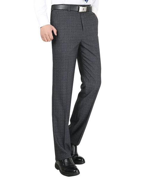 Modern Fit Plaid Pants Grey