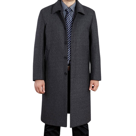 Wool Blend Classic Pea Coat 4 Colors