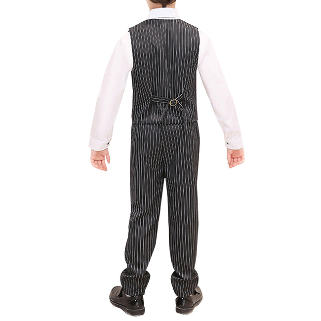 Boy's 2-Piece Stripe Suit Black