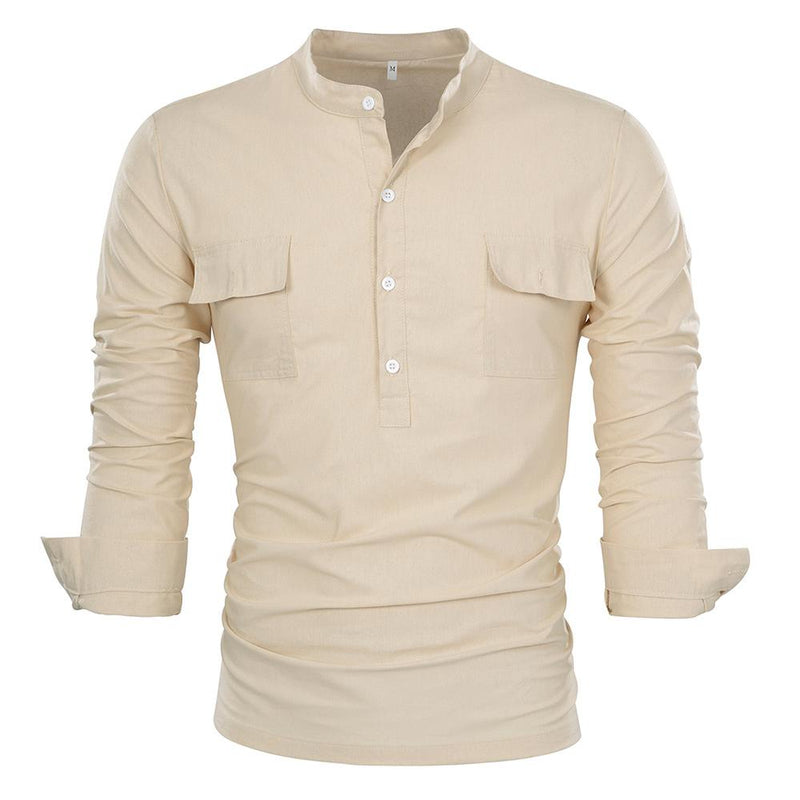 Regular Fit Pullover Casual Shirt Wheat