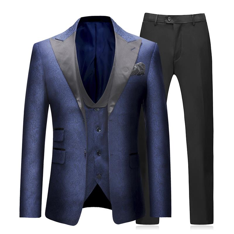 3-Piece Slim Fit Dress Suit Navy