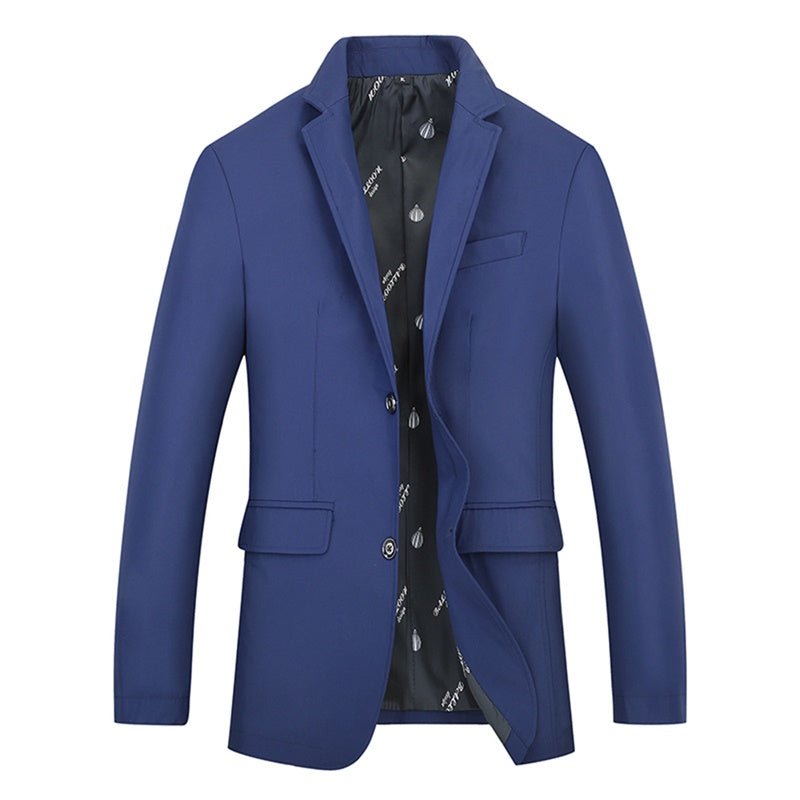Dark Blue Fashion Jacket Slim Fit Casual Blazer