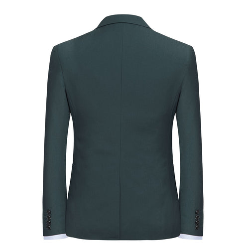 2-Piece Slim Fit Simple Designed Suit DarkGreen