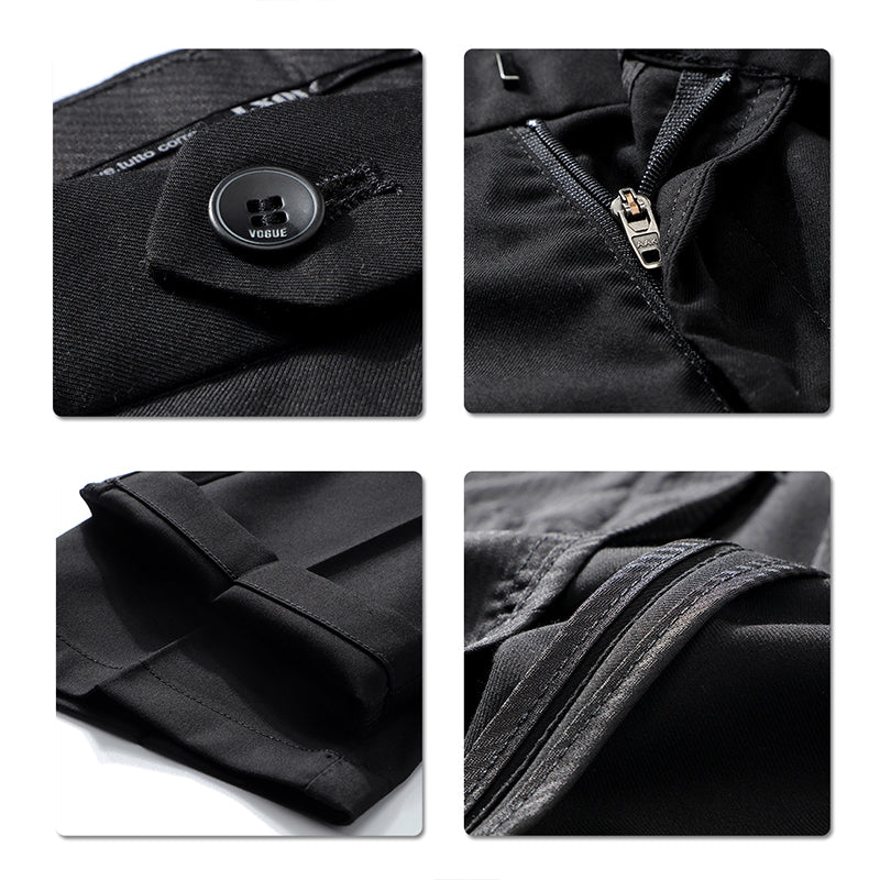 Jacquard Black Suit 2-Piece Casual Suit