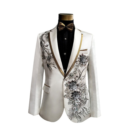 2-Piece Slim Fit Wedding Suit 16 Colors - Cloudstyle