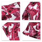 Japanese Banana Leaf Print Summer Suit