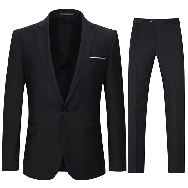 2-Piece Slim Fit Tuxedo Suit 2 Colors