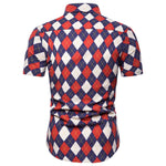 Slim Fit Rhombus Designed Shirt