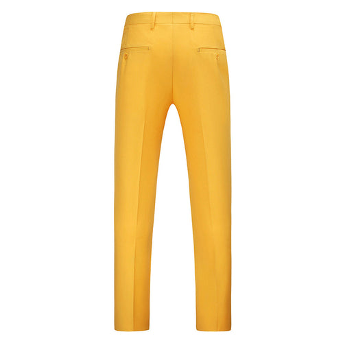 Modern Fit Straight Leg Classic Dress Pants GoldenRod