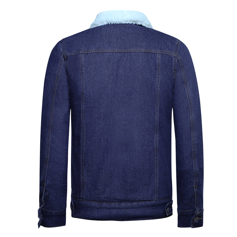 Fleeced Denim Jacket 2 Colors - Cloudstyle