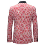 3-Piece Slim Fit Paisley Maroon Suit