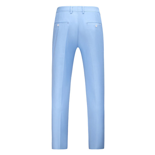 Modern Fit Straight Leg Classic Dress Pants LightBlue