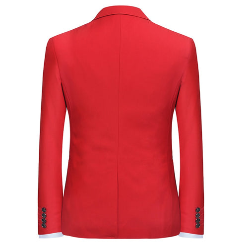 Red Stylish Blazer One Button Casual Blazer