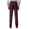 Dark Red Relaxed Flat Front Straight-Fit Suit Dress Pant
