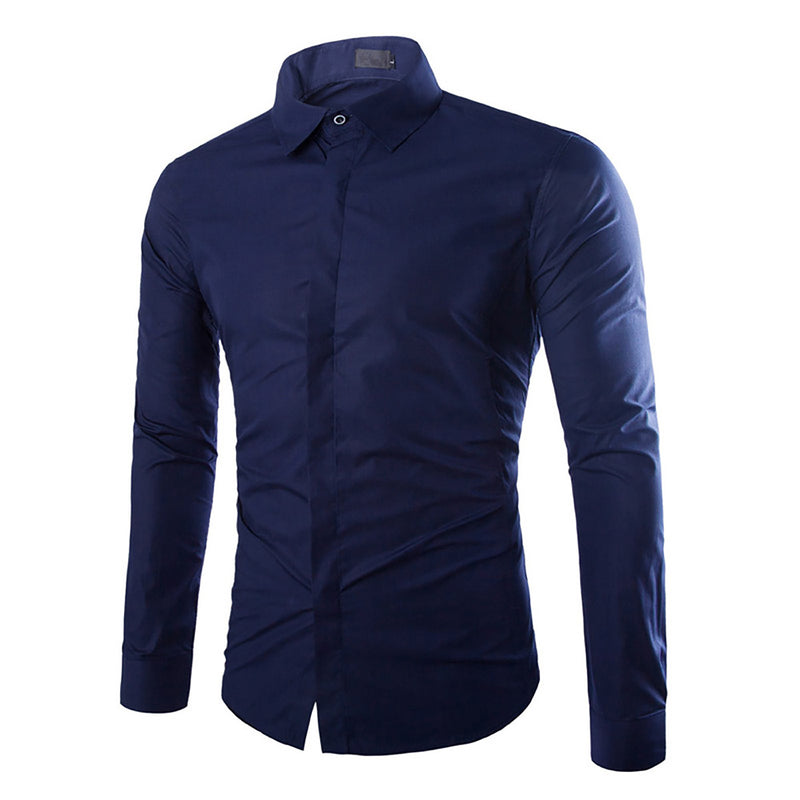 Navy Regular Casual Shirt