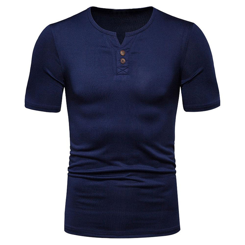 Slim Fit Casual T-shirt Navy