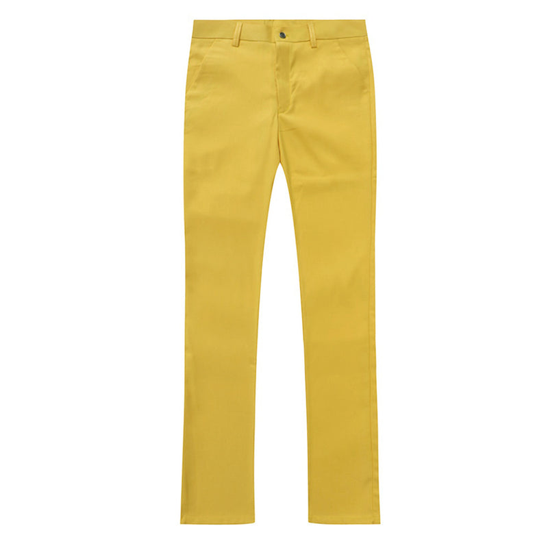 2-Piece Slim Fit Simple Designed Yellow Suit