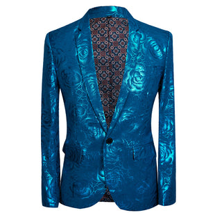 Slim Fit Paisley Fashion Maroon Blazer