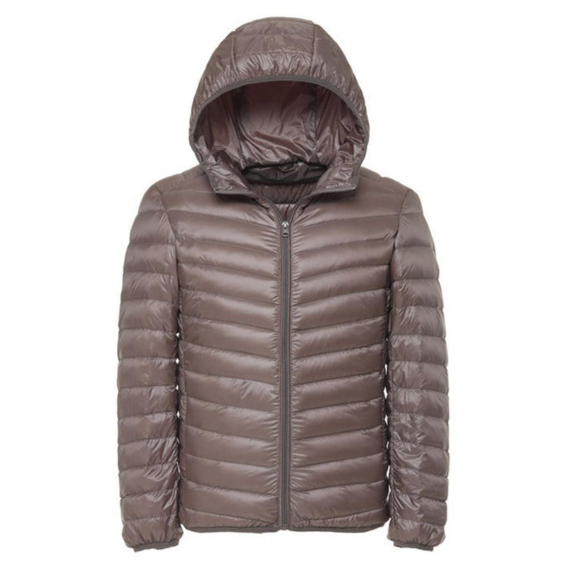 Hooded Lightweight Water-Resistant Jacket Beige