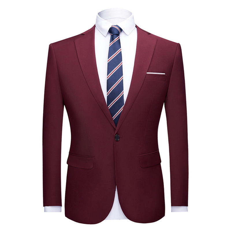 Maroon Stylish Blazer One Button Casual Blazer