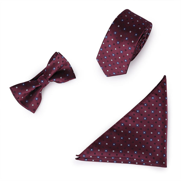 3-Piece Formal Style Tie Set 3 Colors