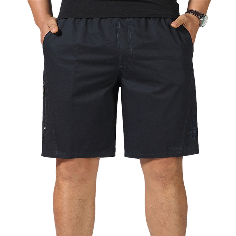 Loose Flat Front Shorts Black
