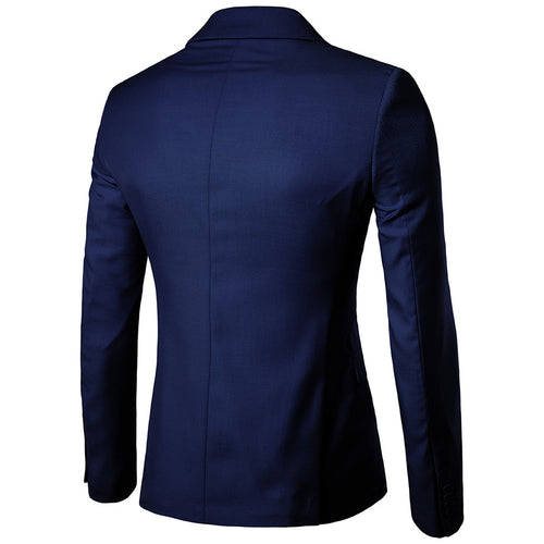 Navy Casual Blazer Slim Fit Business Blazer