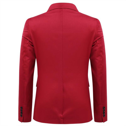 Three Piece Slim Fit Red Suit